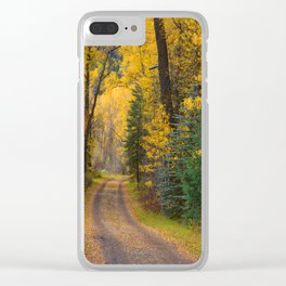 Welcoming Autumn Clear iPhone Case