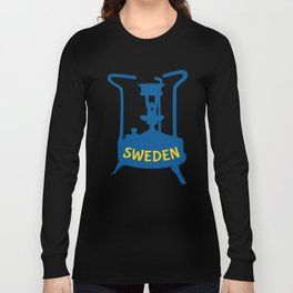 Sweden | Brass Pressure Stove Long Sleeve T-shirt