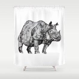 Rhino I Shower Curtain