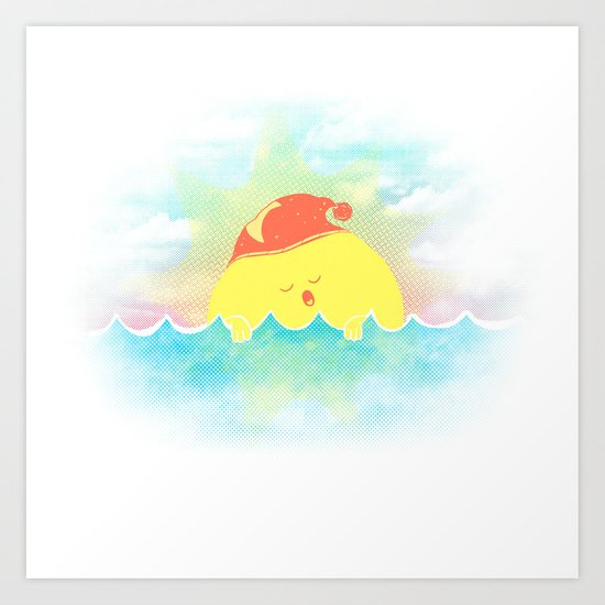 Water Bed Art Print