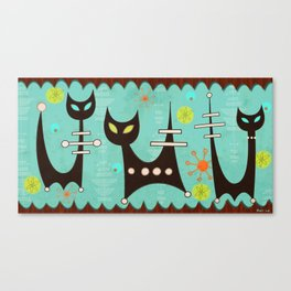 Atomic Cats Canvas Print
