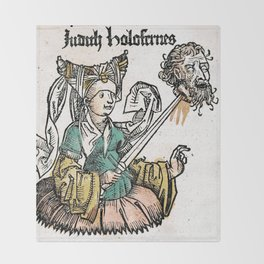 Judith and Holofernes Throw Blanket