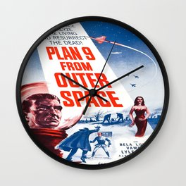 Vintage poster - Plan 9 from Outer Space Wall Clock