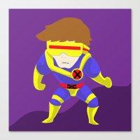 cyclops Canvas Prints featuring Cyclops by Cute-cavu