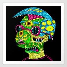 Milhouse Monster Art Print
