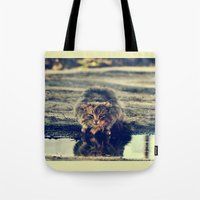 oasis Tote Bags featuring oasis by LindaMarieAnson
