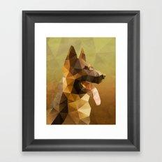 The German Shepherd Framed Art Print
