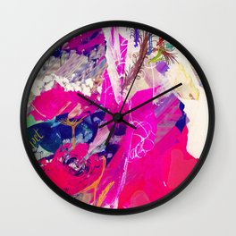 Champagne and roses abstract. Wall Clock