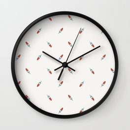 Summer Bomb Pop: Small Pattern Wall Clock