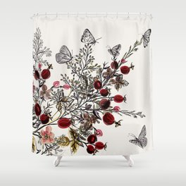 Watercolor floral background Shower Curtain
