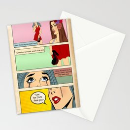 Retro Comic Stationery Cards