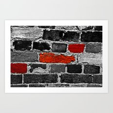 OTHER BRICKS IN THE WALL Art Print