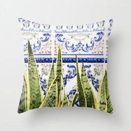 Moroccan Botany #society6 #decor #buyart Throw Pillow