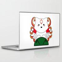okami Laptop & iPad Skins featuring Baby Okami by Murphis the Scurpix