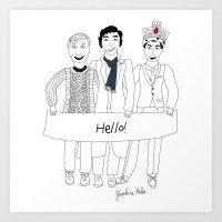 Team Sherlock Art Print