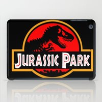 jurassic park iPad Cases featuring Jurassic Park by MrWhite