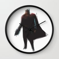 thor Wall Clocks featuring Thor by Josh Belden
