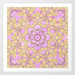 Cassy in Lilac Art Print
