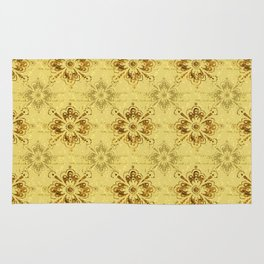 Gold on Gold Ornament Pattern Rug