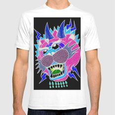 panther White SMALL Mens Fitted Tee