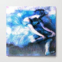 Degas The Dancer Turquoise Teal Dream Metal Print
