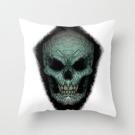 Skull Dark Throw Pillow