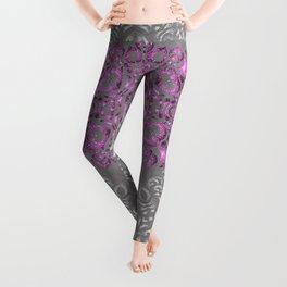 Mandala Pattern with Glitters II Leggings