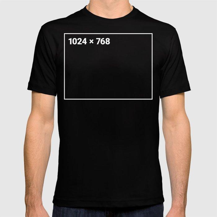 1024 x 768 white frame T-shirt