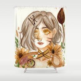 Zodiac sign- Leo Watercolor paint Shower Curtain