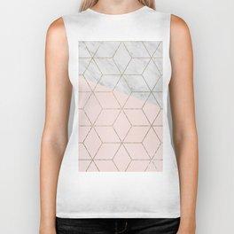 Florence dreams - marble geometric Biker Tank