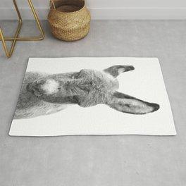 Black and White Baby Donkey Rug