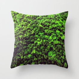Dark Green Moss Throw Pillow