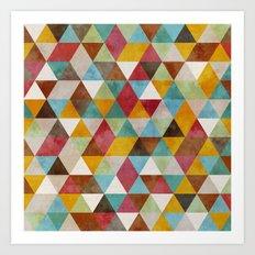 Triangles Circus Oil 2 Art Print