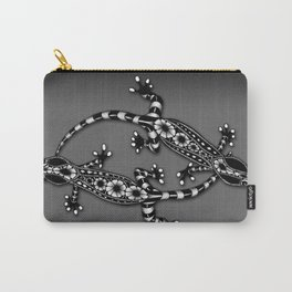 Tangled Geckos on Dark Carry-All Pouch