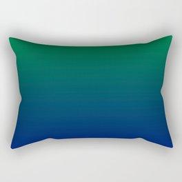 Green to Blue Gradient Rectangular Pillow