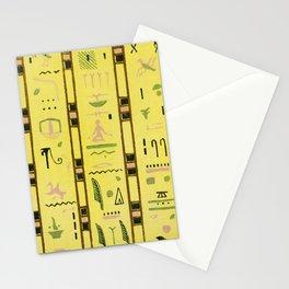 Vintage Egyptian Hieroglyphs design Stationery Cards