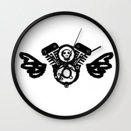 Flying Skull Twins Wall Clock
