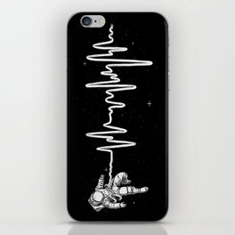 Space Heartbeat iPhone Skin