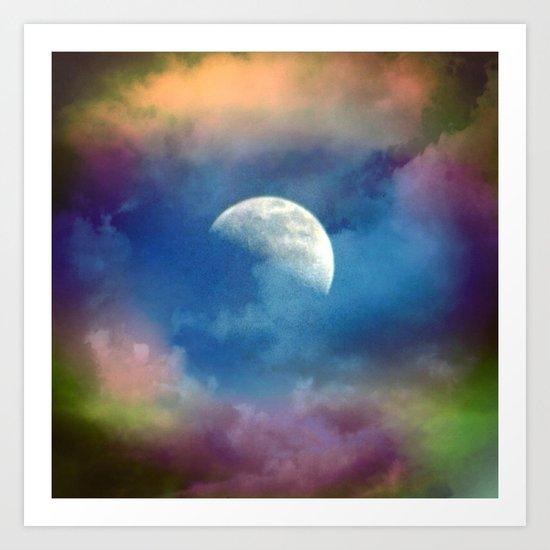 Hazy Moon Art Print