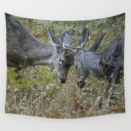 Butting Heads Wall Tapestry