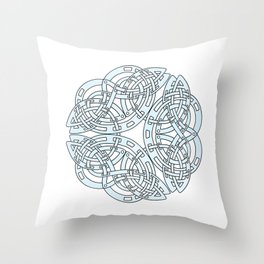 Abstract Celtic Design Silver Throw Pillow