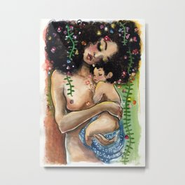 Klimt2: Mother and Child Metal Print