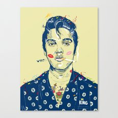 WTF? ELVIS MORNING PARTY Canvas Print