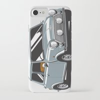 mini cooper iPhone & iPod Cases featuring Mini Cooper Car - Gray by C Barrett