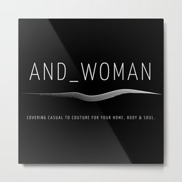 And_Woman Personal Couture Branding V2 Metal Print