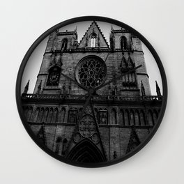 Dark church Wall Clock