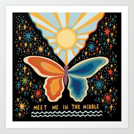 Meet me in the middle Art Print