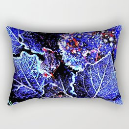 Rime Leaves Abstract Rectangular Pillow
