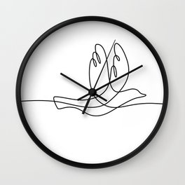 Bird Flying Continuous Line Wall Clock