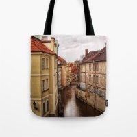 prague Tote Bags featuring Prague by Renae